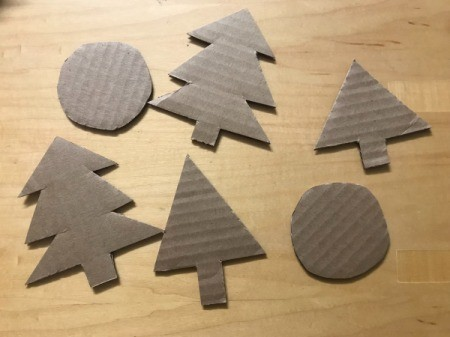 Christmas Decorations from Cardboard - tree and ornament shapes