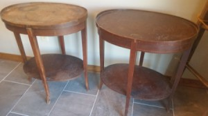 Value of Mersman End Tables - medium wood tone oval tables