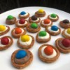 Salted Caramel Chocolate Pretzel Buttons on plate
