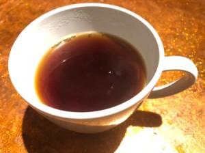 Tea in a white teacup.
