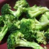 Blanched broccoli, ready for adding to a meal.
