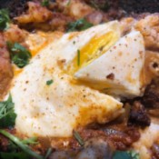 serving Chorizo Potato Egg Skillet