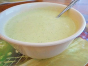 bowl of Chilled Cucumber and Dill Soup