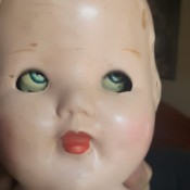 Identifying an Antique Doll - doll's head