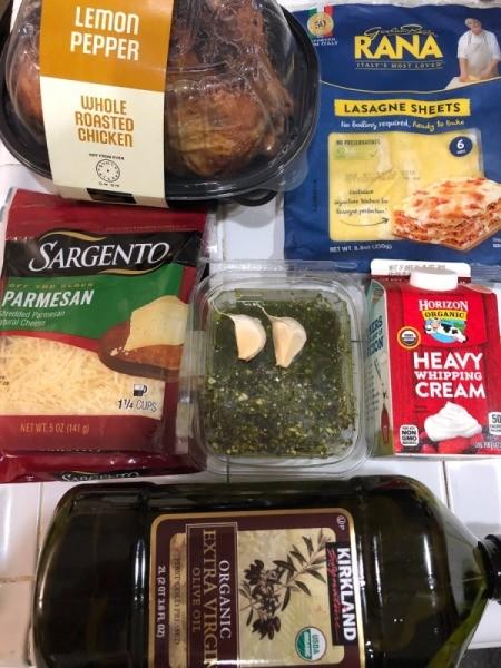 Creamy Chicken Pesto Lasagne