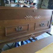 Determining the Age of a Murphy Cedar Chest - chest in the garage