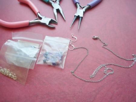 Broken Chain Earrings - supplies