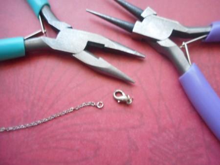 Broken Chain Earrings - cut off the clasp