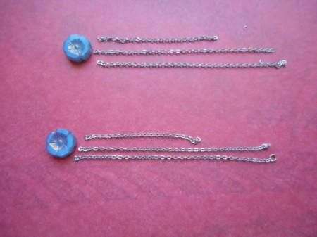 Broken Chain Earrings - cut chain into desired lengths