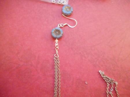 Broken Chain Earrings - add ear wire