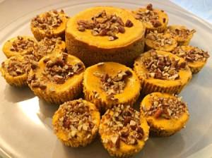 Pumpkin Pecan Cheesecake Bites