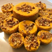 Pumpkin Pecan Cheesecake Bites
