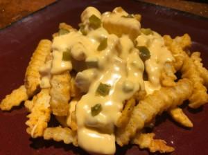 Jalapeño Cheese Sauce on fries
