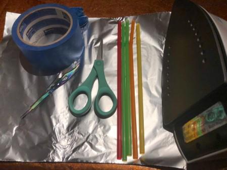 Fused Plastic Straw Ornament - supplies