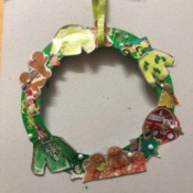 Kids' Cutout Paper Wreath - ready to hang