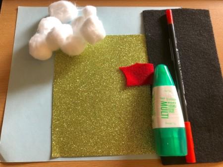 """Puffy """"Fleece Navidad"""" Card - supplies"""