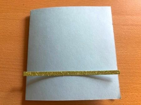 "Puffy ""Fleece Navidad"" Card - cut a thin piece of green card stock to fit horizontally"