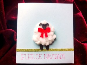 """Puffy """"Fleece Navidad"""" Card - front of the finished card"""