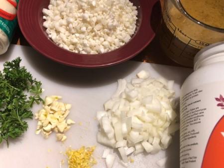 Cauliflower Risotto ingredients
