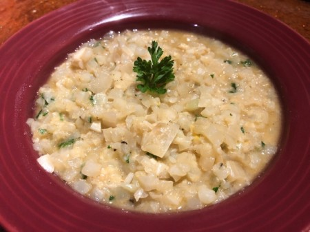 Cauliflower Risotto in serving dish