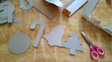 Sparkling Paper Ornaments - several finished shapes