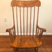 Value of a Wooden Rocking Chair
