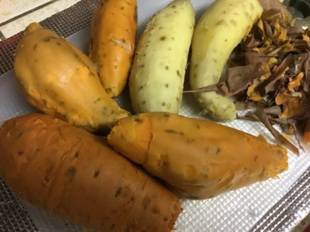 washed and peeled sweet Potatoes and Yams