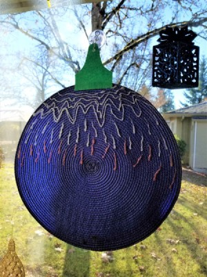 Giant Christmas Ball Decoration - blue ornament