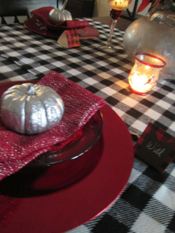 Transforming Gourds Into Elegant Decor - view across the table setting