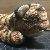 Identifying My Plush Tiger - well loved stuffed tiger