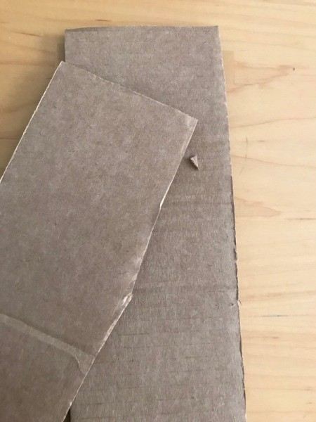 The inner flaps removed from the shipping box.