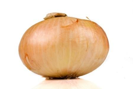 Vidalia onion on white background