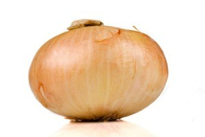 Vidalia onion on white background