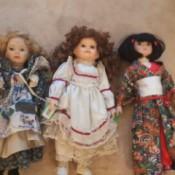Identifying Porcelain Dolls - three dolls