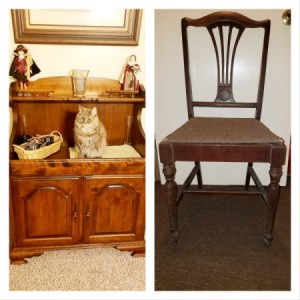 Identifying Vintage and Antique Furniture - dry sink and a chair
