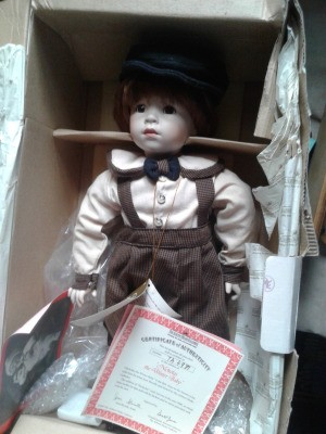 Value of an Ashton Drake Porcelain Doll - doll in box with certificate