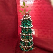 Chopstick and Bead Christmas Tree - finished tree