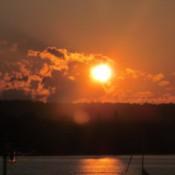 Sunrise (Nova Scotia) - golden sun rise