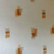 Finding Discontinued Wallpaper - white wallpaper with beige and brown rectangular shapes