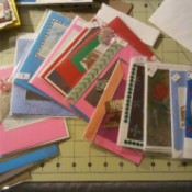 A selection of handmade greeting cards.