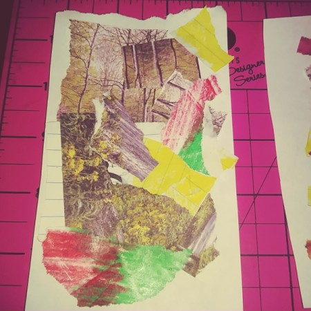 Save Scraps of Colorful Paper for Scrapbook Cards