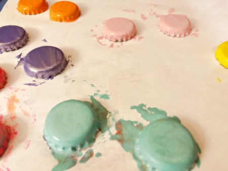 French Macaron Cookie Ornaments - allow to dry completely