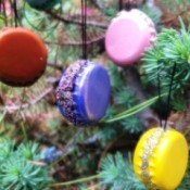 French Macaron Cookie Ornaments  - hang on the tree
