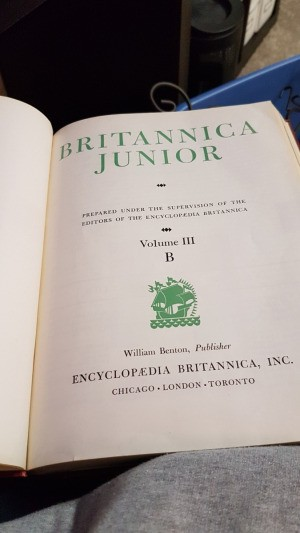 Value of Britannica Junior - cover page