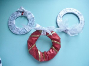 Mini Wreath Ornament - three different wreaths