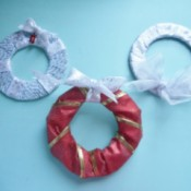 Mini Wreath Ornament - three different wreaths