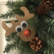 Candy Nose Reindeer Ornament