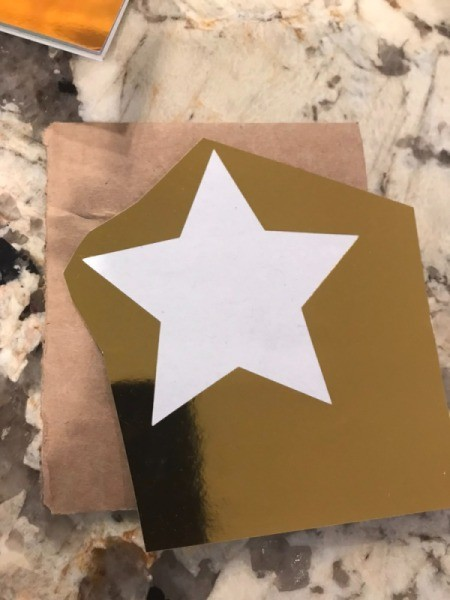 Cardboard Star Ornament  - use it as the template