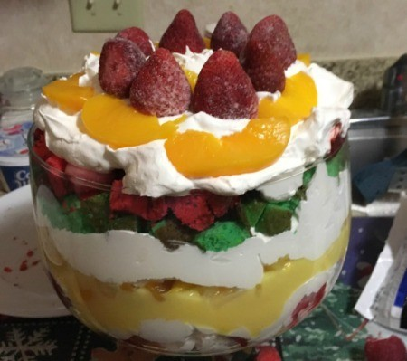 finished Dessert Trifle