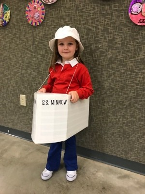 Gilligan's Island Costume with Wearable SS Minnow Boat